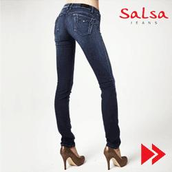 Blugi modelatori Wonder SALSA pentru femei, Linie Push up si Croiala slim