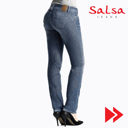 Wonder Push Up Salsa Jeans cu efect de push up imediat. Jeansi de dama.