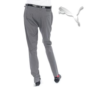 Pantaloni BoyFriend cu curea, casual gri din bumbac de la Puma