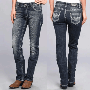 Cowgirl BoyFriend Jeans look edgy vintage din colectia Rock`n Roll