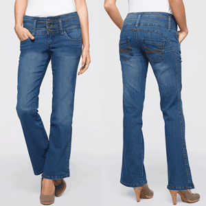 Jeansi modelatori. Blugi pentru abdomen plat si fese ridicate la preturi mici