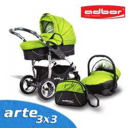 Carucior Adbor Arte 3x3 cu accesorii complete