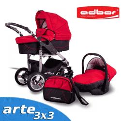 Carucioarele Adbor Arte 3x3 - carucioare bebe cu functie de leganare