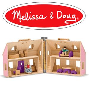 Casuta pliabila pentru papusi Melissa & Doug - jucarii pentru copii la emag