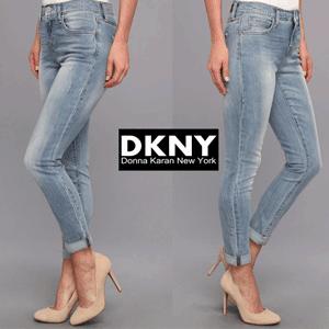 DKNY Jeans - Blugi croiala Boyfriend 5 buzunare