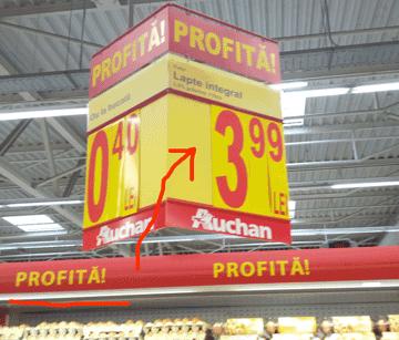 Oferta cu alarma falsa la Auchan Vitan