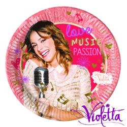 Farfurii din carton personalizate Disney Violetta pentru petreceri tematice
