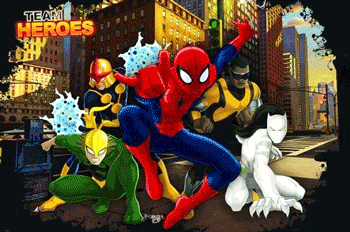 Fototapet Marvel Spiderman pentru camera baieti