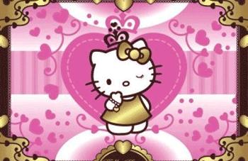 Fototapet Hello Kitty pentru fetite