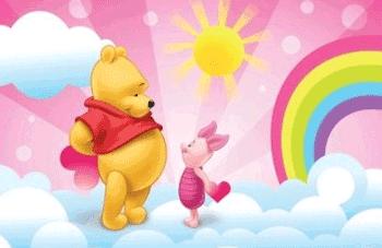 Fototapet mare de perete Winnie The Pooh si prietenii sai