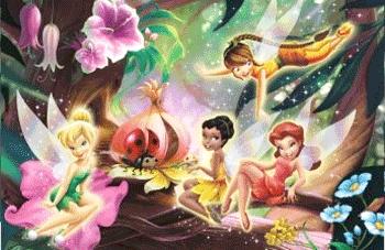 Autocolant dimensiuni mari Disney Fairies Clopotica Tinkerbell