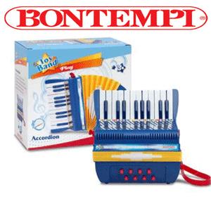 Instrumente muzicale pentru copii Acordeon 20 de taste de la Bontempi recomandat pentru copiii cu varsta peste 3 ani