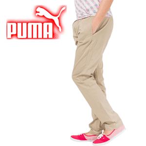 Pantaloni dama Boyfriend Puma Pants model casual de culoare bej