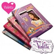 Primul meu Jurnal Violetta cu lacat culori mov roz rosu si bleu
