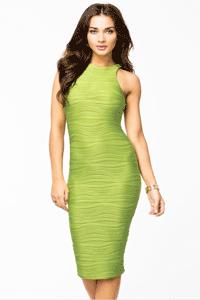 Rochie de seara eleganta de culoare verde Green Racer