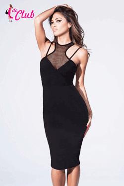 Rochie lunga eleganta de club - Imbracaminte de club la preturi sub 100 de lei