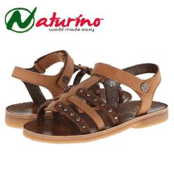 Sandale elegante din piele Naturino pentru fetite