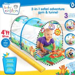Tunel de activitati pentru bebelusi Baby Einstein - jucarii bebelusi Aventura in Safari