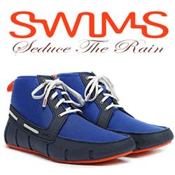 Swim Sport Loafer High ghete de ploaie din poliuretan si talpa din cauciuc