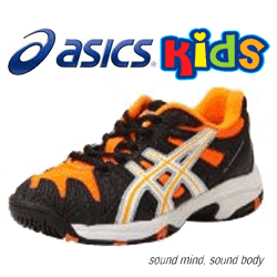 see ASICS KIDS Orange colour Gel Resolution 5 GS KIDS Tennis Shoe