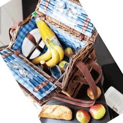 Cos mare pentru picnic din rachita