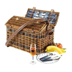 Cos pentru picnic mare din rachita pentru 4 persoane
