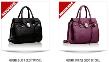 vezi Gentile de mana Croc Satchel Eco Leather pentru femei