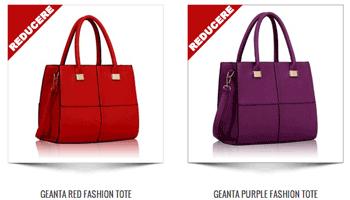 Genti de mana moderne Fashion Tote de culoare rosie maro si purpuriu