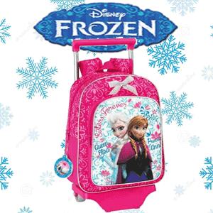 Ghiozdan troler mic Disney Frozen Elsa si Anna