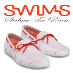 Mocasini alby din nylon pentru ploaie marca Swims