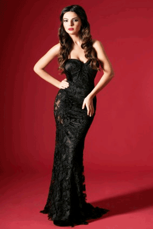 Rochie de ocazie sirena, culoare neagra
