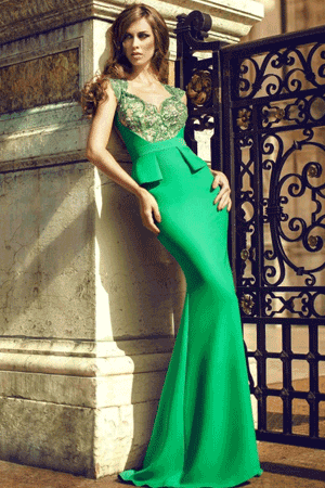 Rochie senzationala tip sirena de culoare verde