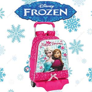 Troler scolar mare Disney Frozen cu Ghiozdan detasabil