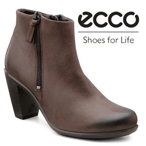 Botine maro comode ECCO Touch 75 B moi, usoare, confectionate din piele oleita. Sunt foarte confortabile. Captuseala din textil amortizeaza piciorul. Se inchid cu fermoar in partea din interior. Tocul stabil are inaltimea de 7,5 cm. Talpa injectata este usoara si rezistenta. TehnologiaPORON® impreuna cu sistemul  ECCO Comfort Fibre, ofera o excelenta absorbtie a socurilor si calitati antibacteriene.