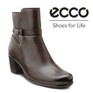 Botine maro de dama ECCO Touch 55 B confectionate din piele naturala. Captuseala din textil mentine picioarele fresh intreaga zi. Brantul acoperit cu piele impreuna cu sistemul ECCO Comfort Fibre absoarbe socurile si ajuta la recircularea aerului in interior. Catarama este pentru un design placut. Exteriorul din piele al botinelor ECCO Touch este moale, fin si respira. Talpa rezistenta din poliuretan este rezistenta si stabila. ECCO Touch 55 B este o botina confortabila, ideala pentru a fi purtata zilnic.