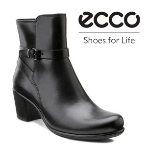 Botine de toamna ECCO Touch din piele fina cu talpa rezistenta si confortabila