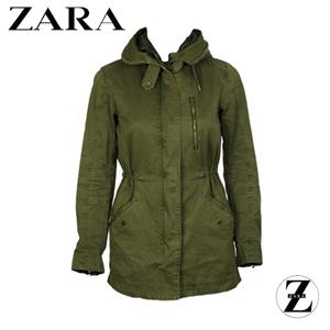 Jacheta Zara de dama culoare verde inchis