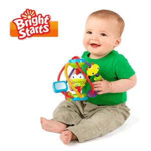 Bright Starts - Jucarie Intoarce si Rasuceste. Broscuta vesela, bine ascunsa in interiorul jucariei. Omida vesela, formata din ineluse colorate. Diferite inele si forme colorate, cu texturi distincte. Jucaria are manere pentru prindere, foarte usor de apucat de catre copii. Culorile vesele si texturile speciale ale manerelor ii vor dezvolta abilitatile senzoriale ale bebelusului. Jucaria este conforma cu standardele de siguranta ASTM F-963.