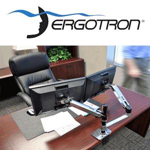 LX Dual Stacking Arm 45-248-026 Ergotron on amazon.com