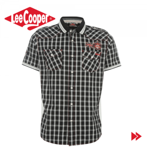 Lee Cooper Cooper Mix Fabric Short Sleeve Shirt