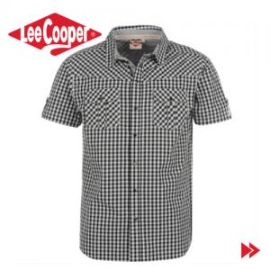Camasa smart casual Lee Cooper Fashion Check pentru barbati. Moda masculina la preturi de outlet