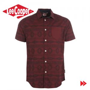Lee Cooper Mens Short Sleeved Shirt