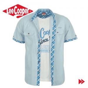 Lee Cooper Short Sleeve camasa pentru barbati cu bluza