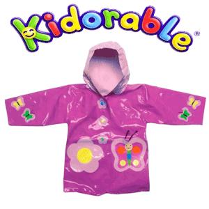 Pelerina de ploaie Balerina Butterfly Kidorable pentru fetite de 3-6 ani culori mov cu roz