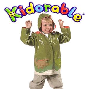 Pelerina de ploaie baietei 3-6 ani Dino Kidorable de culoare verde