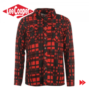 Lee Cooper Lined Polar Fleece camasa de iarna barbati