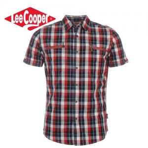 Lee Cooper Double Zip camasa cu maneca scurta pentru barbati. Camasi barbatesti Lee Cooper la preturi de outlet.