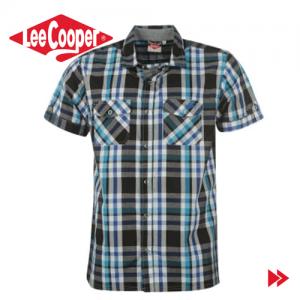 Lee Cooper Short Sleeve Check camasa pentru barbati