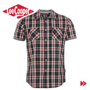 Camasi barbatesti branduri renumite Lee Cooper Fashion Check camasa pentru barbati