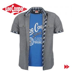 Camasi originale casual barbatesti Lee Cooper la preturi de outlet